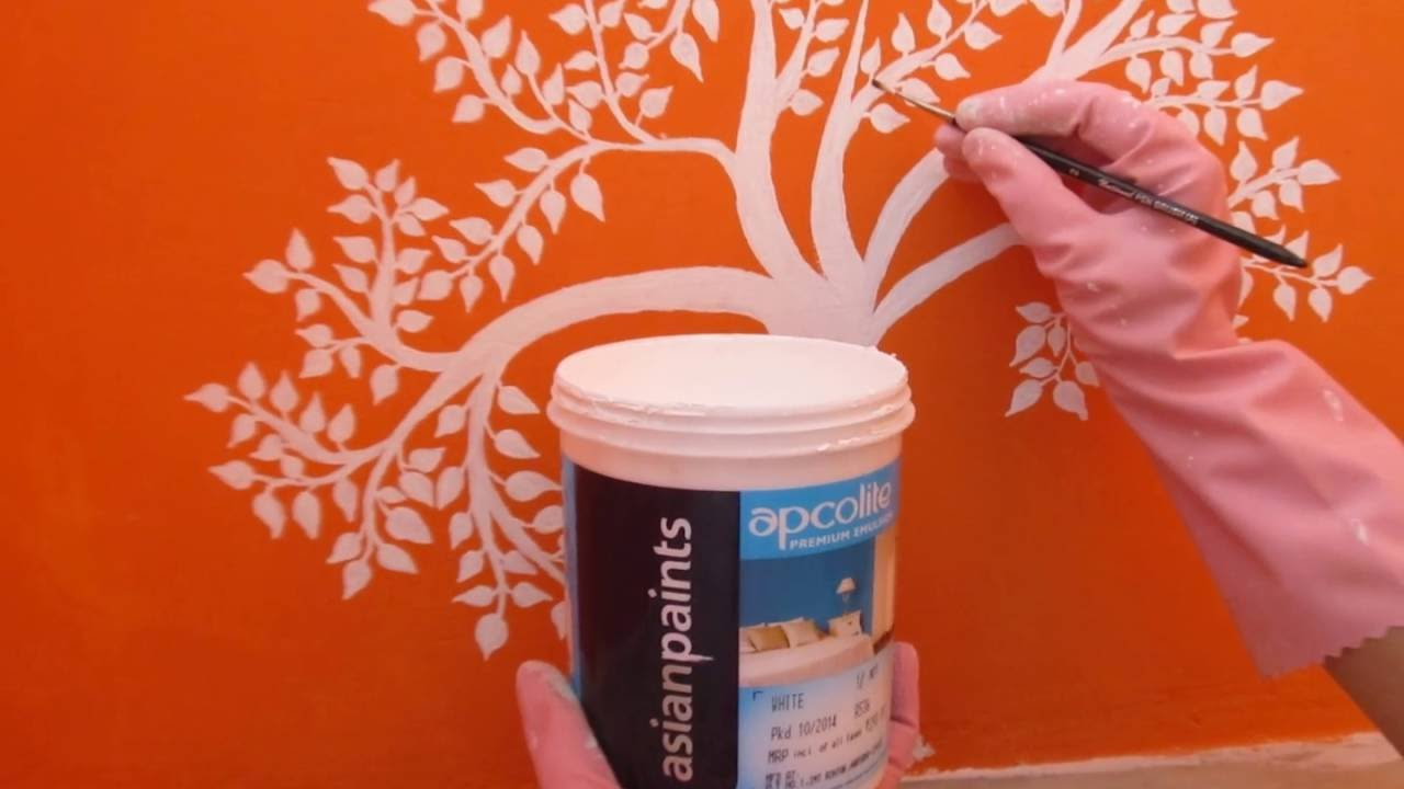 how to paint your living room bench seating asian paints wall art - youtube