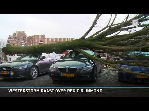 De storm veroorzaakte heel veel schade.