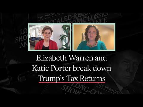 Donald Trump's Tax Returns: Elizabeth Warren and Katie Porter Break Them Down