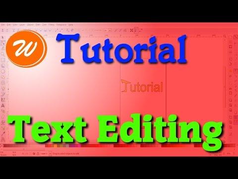 Inkscape Tutorial - Text Editing, Stroke & Fill