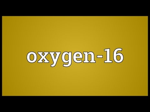 Oxygen-16 Meaning