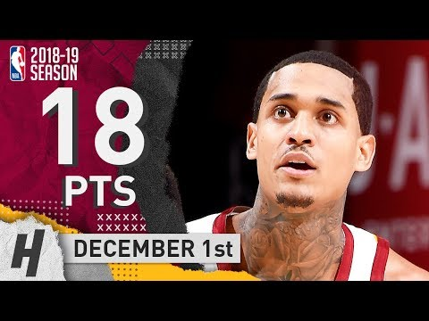 Jordan Clarkson Full Highlights Cavaliers vs Raptors 2018.12.01 - 18 Pts, 2 Ast, 2 Rebounds!