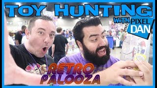 TOY HUNTING with Pixel Dan at Retropalooza V - Ghostbusters Toys and Voltron Tattoos!