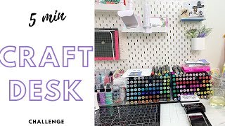 5 Minute Craft Desk Challenge featuring Simon Says Stamp