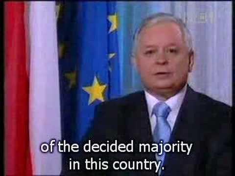 Polish President Kaczynski on Lisbon Treaty