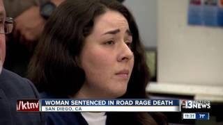 Woman breaks down in court when sentenced for deadly road rage incident