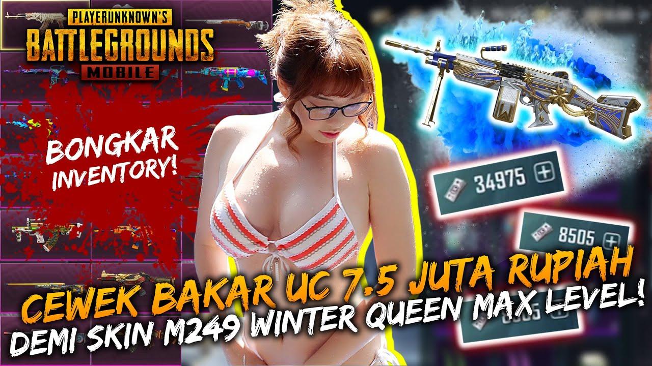 BAKAR UC 7.5 JUTA RUPIAH DEMI SKIN M249 WINTER QUEEN MAX LEVEL! - PUBG Mobile Indonesia