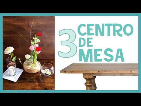 3 ideas f ciles centro de mesa con flores naturales - Centros de mesa naturales ...