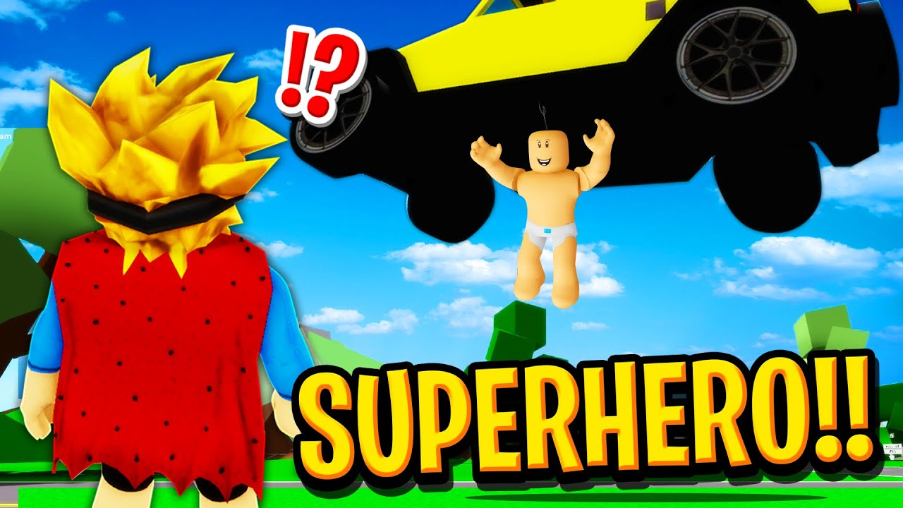 My Baby was a SECRET SUPERHERO in Roblox BROOKHAVEN RP!!
