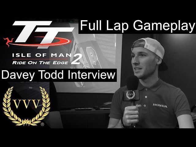 TT Isle of Man 2  lap with real TT Rider Davey Todd and Interview