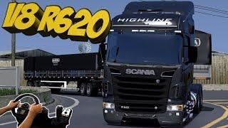 SCANIA V8 R620 SERA QUE ESSE  ESTRALA? EURO TRUCK VIDA REAL - G27!!!