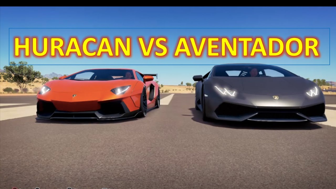 lamborghini huracan vs aventador forza horizon 3 duels youtube. Black Bedroom Furniture Sets. Home Design Ideas