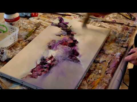 Abstract Art Painting Demonstration(50) - Althea artiste peintre-BJArt's