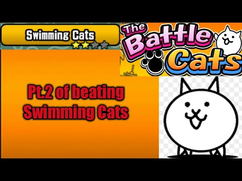 Pt.2 of beating Swimming Cats (The Battle Cats)