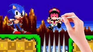 Super Mario Maker Sonic Mod | Green Hill Zone in Mario Maker