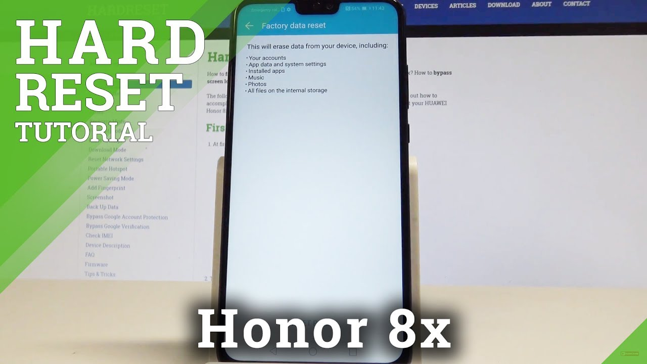 Hard Reset HUAWEI Honor 8x - HardReset info