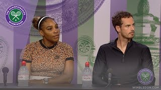 Andy Murray & Serena Williams Second Round Mixed Doubles Press Conference Wimbledon 2019