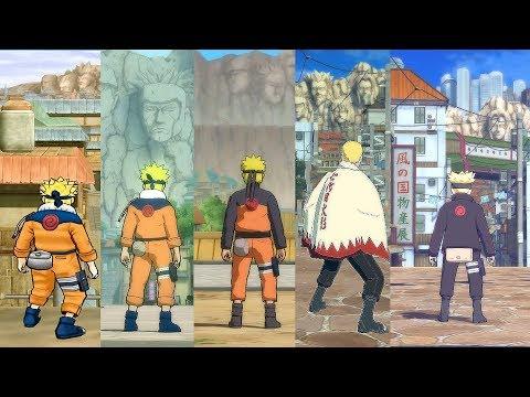 Evolution Of The Hidden Leaf Village In Naruto Ultimate Ninja Games