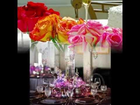 Wedding reception centerpieces decorations - YouTube
