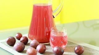 Cливовый компот с яблоками -  как приготовить компот из слив .