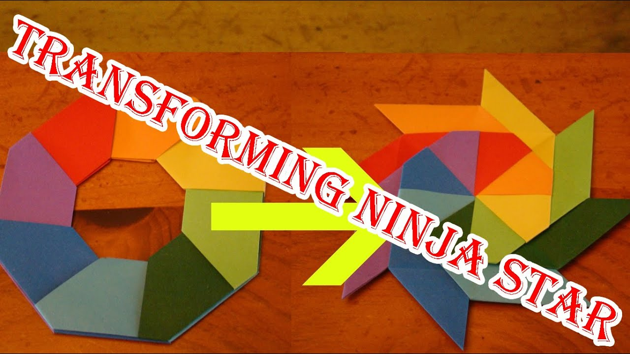 how to make a transforming ninja star 3d