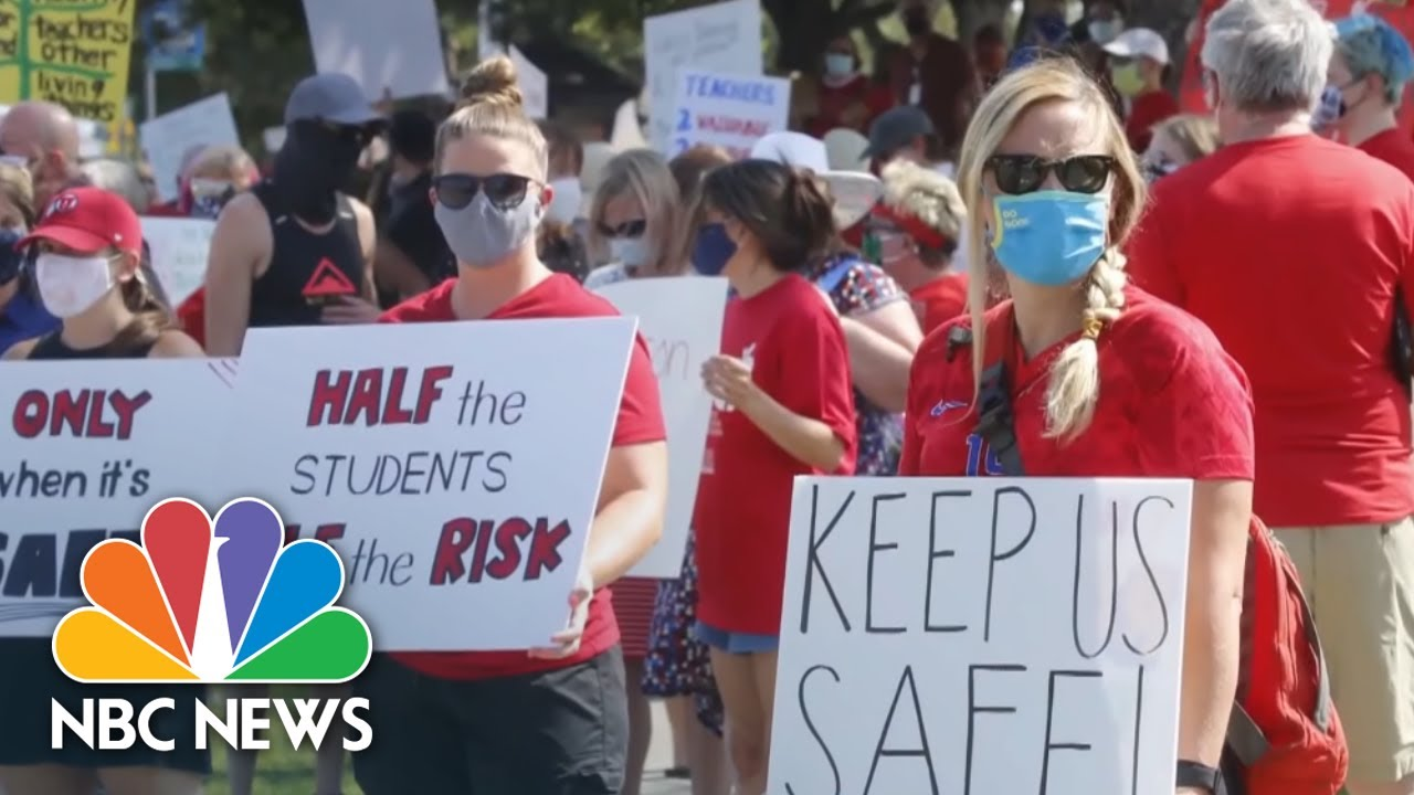 Teachers Threaten To Strike Against In-Person Learning Amid Coronavirus Pandemic   NBC News NOW