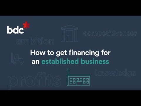 How to get financing for an established business