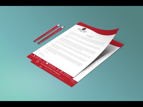 how to make modern letterhead design in illustrator 2017