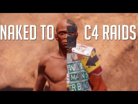 Rust | NAKED TO C4 RAIDS (SO MUCH LOOT)