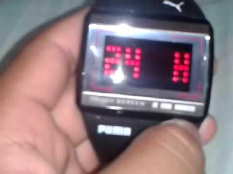 reloj puma digital