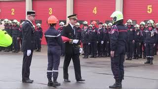 Cérémonie de la Sainte-Barbe, pompiers de l'Yonne 2019 à Avallon (89).