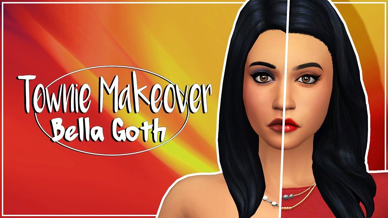 BELLA GOTH | THE SIMS 4 | Townie Makeover + CC list & sim download
