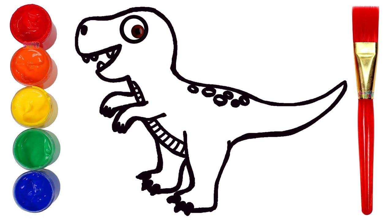 How To Draw A Dinosaur Drawing And Painting Creative For Kids Youtube