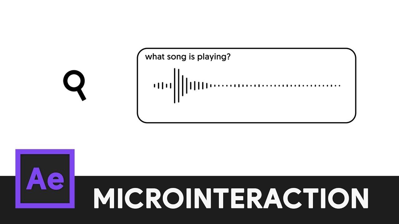 Music Search Icon Animation After Effects Microinteraction 07 Youtube