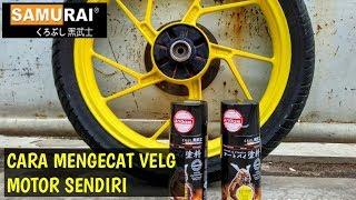 Mengecat Velg Motor Sendiri Dengan Pilox Samurai Paint | Repaint Velg