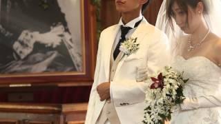 ハワイでの結婚式.