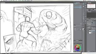 Gambar cover Twitch Live Stream 006 #Drawing Comics - Hulk vs Wolverine in #Manga Studio 5