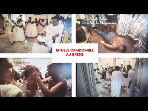 Résistance croyances Noires à Bahia. Rituels Candomblé au Brésil.