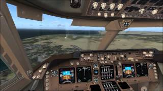 FSX - Boeing 747 landing - Tower and cockpit view