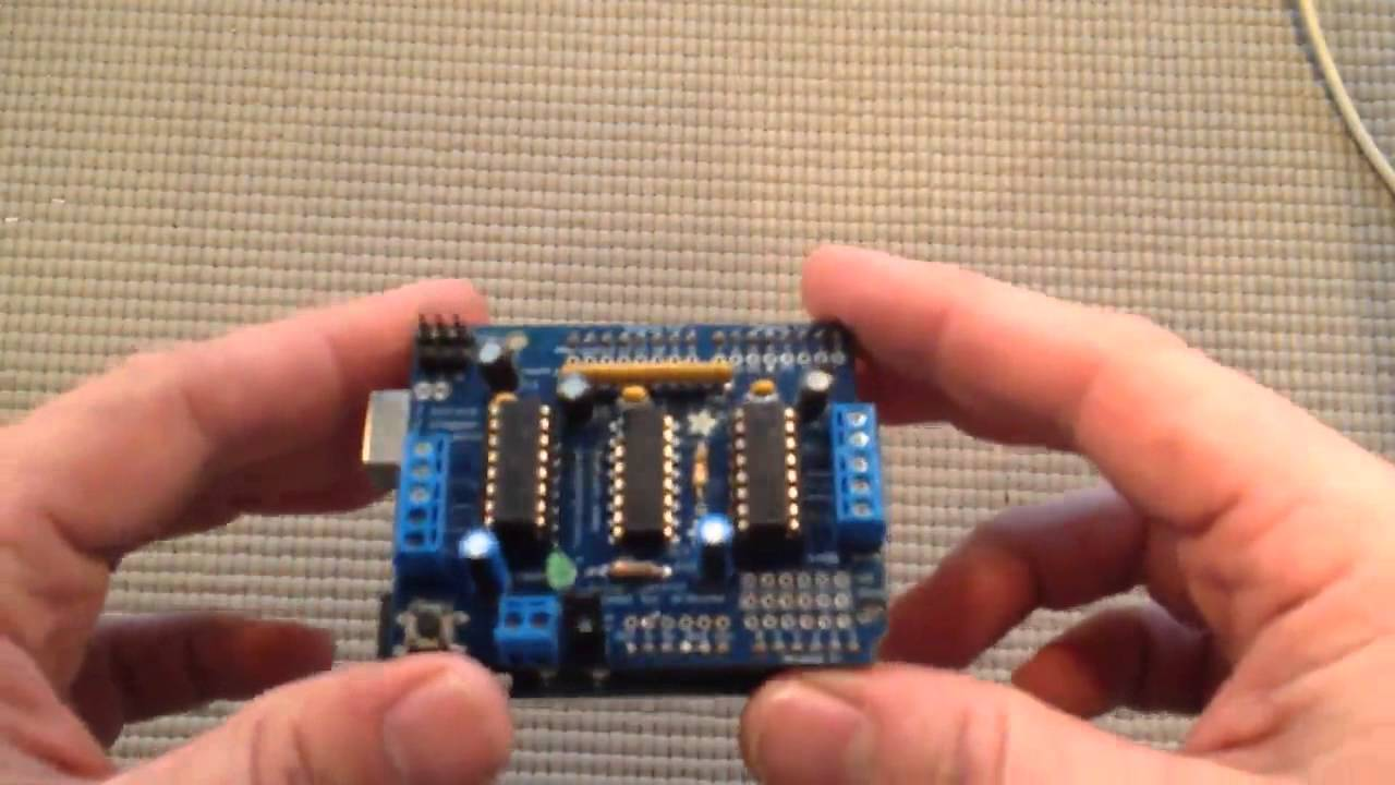 Arduino for beginners using a motor shield doovi