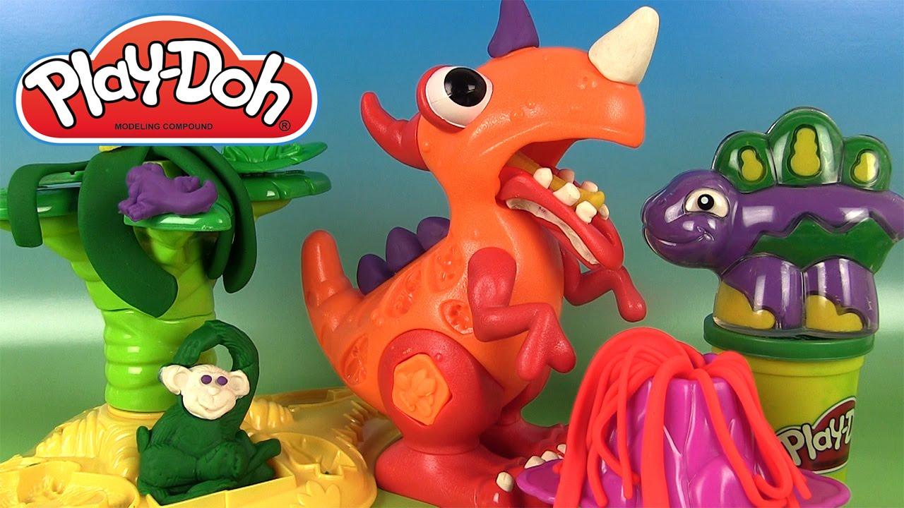 Play Doh Chomposaurus Pâte à Modeler Dinosaures Animaux De La Jungle