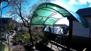 Самодельная беседка(Беседка из металла и поликарбоната своими руками для дома и дачи фото видео мои работы, как сделать кроват..., 2015-05-11T22:13:54.000Z)