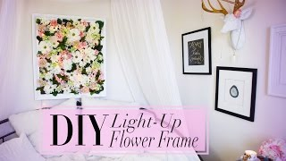 Diy Light-up Flower Frame Room Decoration | Anneorshine