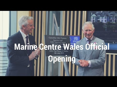HRH Prince Charles opens the Marine Centre Wales, Bangor University