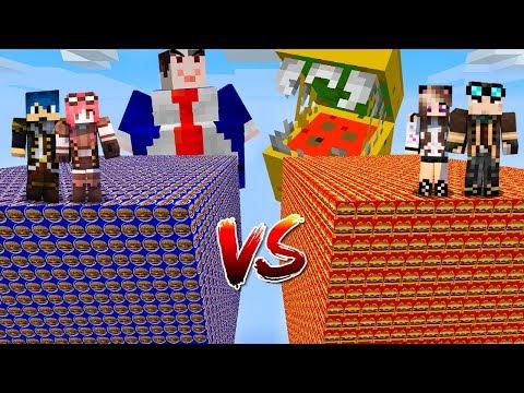 Minecraft ITA - Lucky Block McDonald's Vs Burger King - W/Lyon