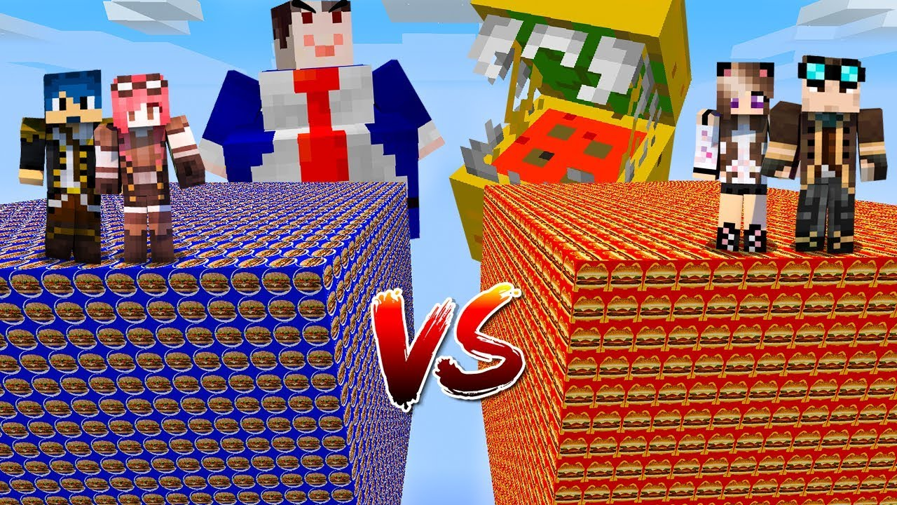 Minecraft ITA - Lucky Block McDonald's Vs Burger King - W/Lyon