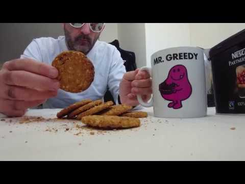 2K subs! Michel Du Vagin eats vegan biscuits and drinks coffee 💓 #ASMR unboxing mouth sounds video