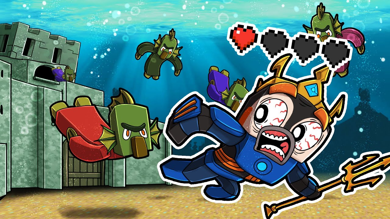 New SPECIES of OCEAN Villagers! (Atlantis Craft)