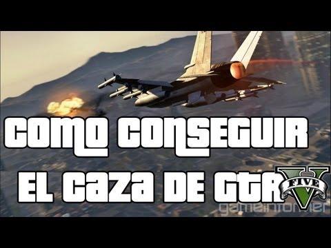 Como conseguir el caza de GTA V - El avión mas rápido de GTA V - p996 Lazer GTA 5 -