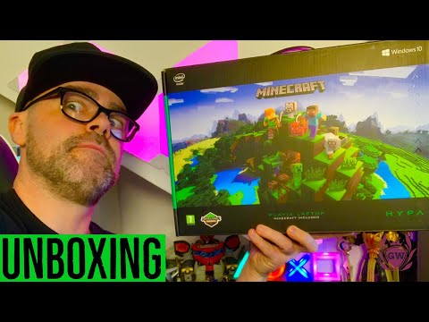 HYPA MINECRAFT LAPTOP UNBOXING! HYPA ARGOS Minecraft 14in Pentium 4GB 64GB Laptop UNBOXING!